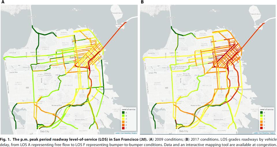 美国新研究发现:网约车让交通更堵了
